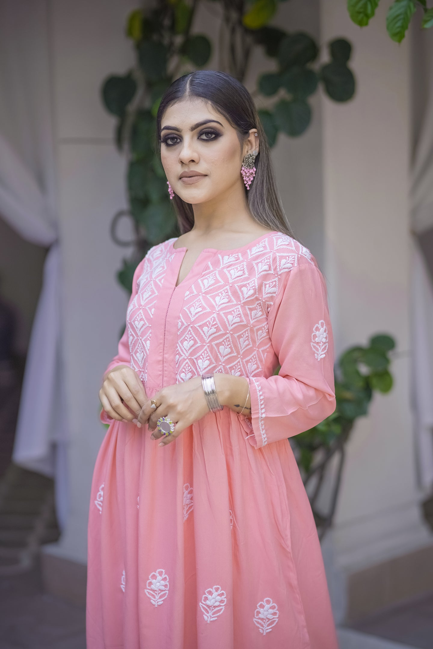 Wind in my Hair Kurta - Pink