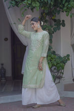 Load image into Gallery viewer, Green Evening Skies 3 Piece Kurta Set