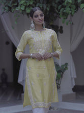 Load and play video in Gallery viewer, Evening Skies Kurta - Yellow