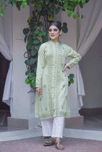 Load image into Gallery viewer, Hazy Dawn Kurta - Pista Green