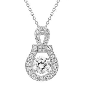 Sterling Silver Dancing Simulated Diamond Pendant made with Swarovski Zirconia