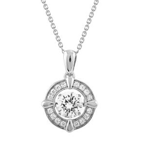 Carole Radziwill Dancing Diamond Circle Pendant-Necklace