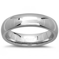 6mm Mens Comfort Fit Plain Tungsten Wedding Band ( Available Ring Sizes 7-12 1/2)