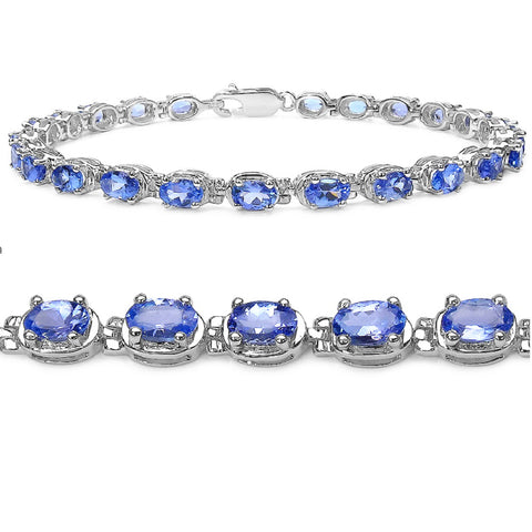 6ct tw Tanzanite Tennis Bracelet in Sterling Silver 7 1/4 inches