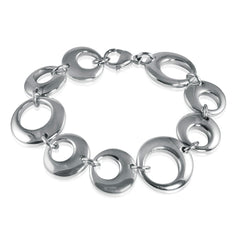 Ladies 7 inch Stainless Steel Circle Bracelet