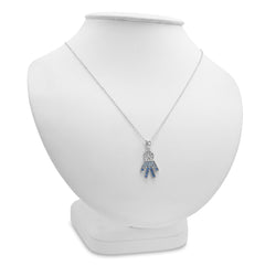 Sterling Silver Blue and White Crystal Boy Pendant with Swarovski Elements , Gifts Under $99 - MLG Jewelry, MLG Jewelry  - 3