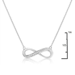 Sterling Silver Diamond Accent 18 inch Infinity Necklace