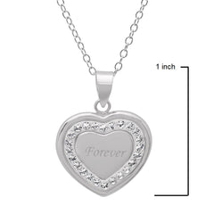 Sterling Silver Crystal Forever in Heart Pendant with Swarovski Elements , Gifts Under $99 - MLG Jewelry, MLG Jewelry  - 2
