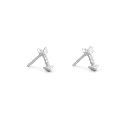 Amanda Rose Small Arrow Earrings in Sterling Silver