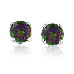 Handcrafted Genuine Mystic Topaz & Sterling Silver Earrings - Mystic