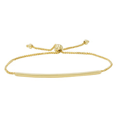Amanda Rose Bar Bolo Bracelet in 14k Gold (Adjustable)
