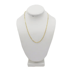 Amanda Rose 14k Yellow Gold 3 mm Paperclip Chain Necklace (Choose your length)
