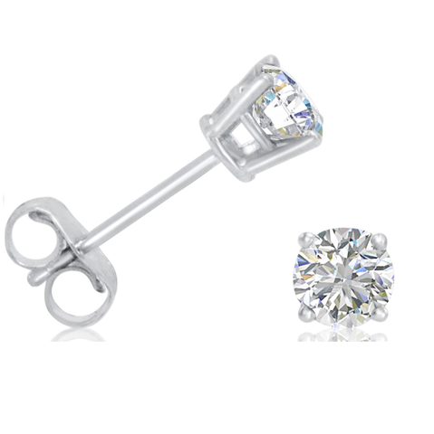 .40ct tw Diamond Stud Earrings in 14K White Gold