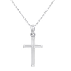 14K Gold Cross Pendant Necklace on an 18 inch 14K Gold Chain