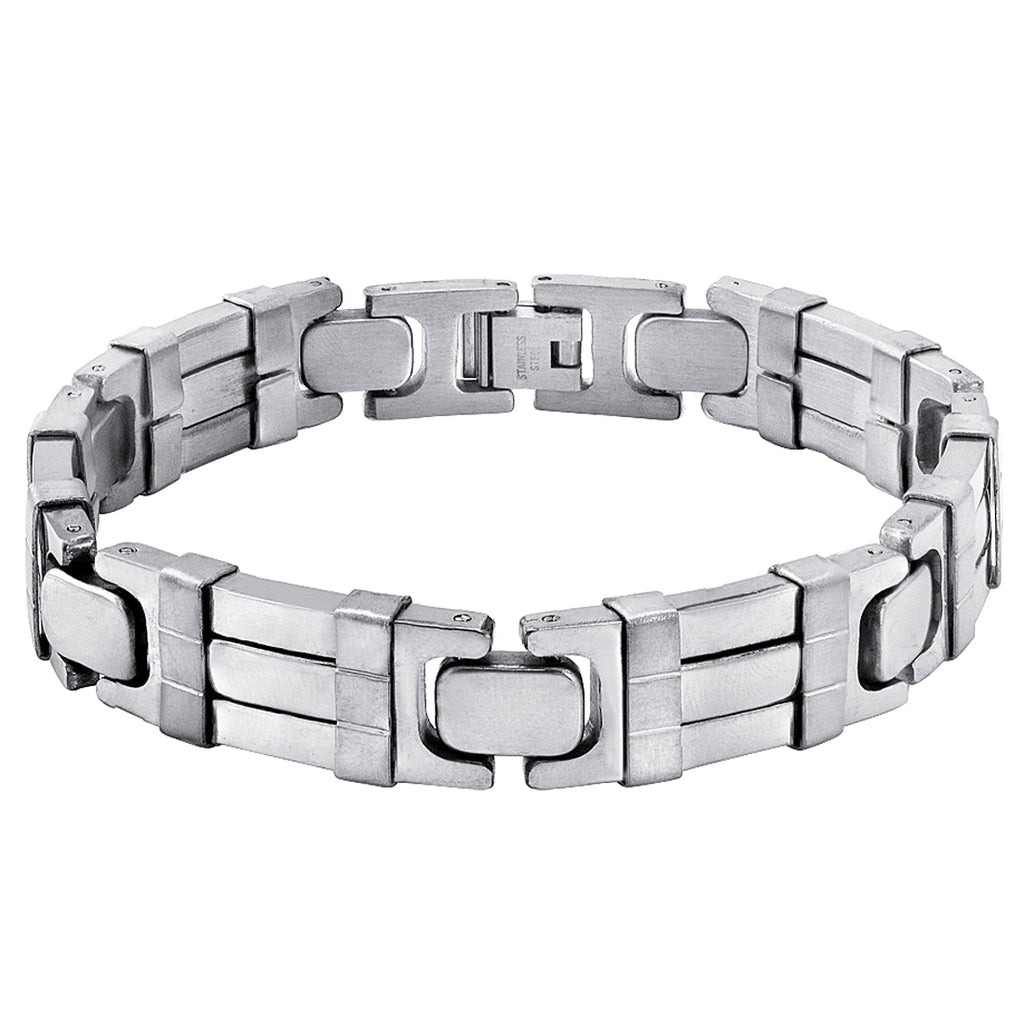 Oxford Ivy Men's Stainless Steel Chain Link Bracelet 8 1/2 inches , Bracelets - MLG Jewelry, MLG Jewelry