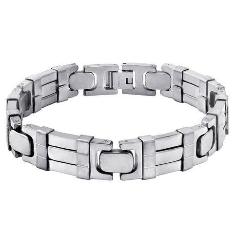 Oxford Ivy Men's Stainless Steel Chain Link Bracelet 8 1/2 inches