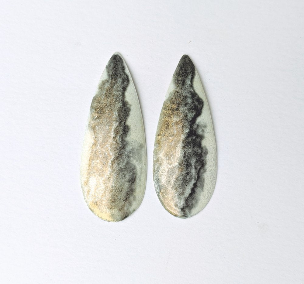 Moss post earrings