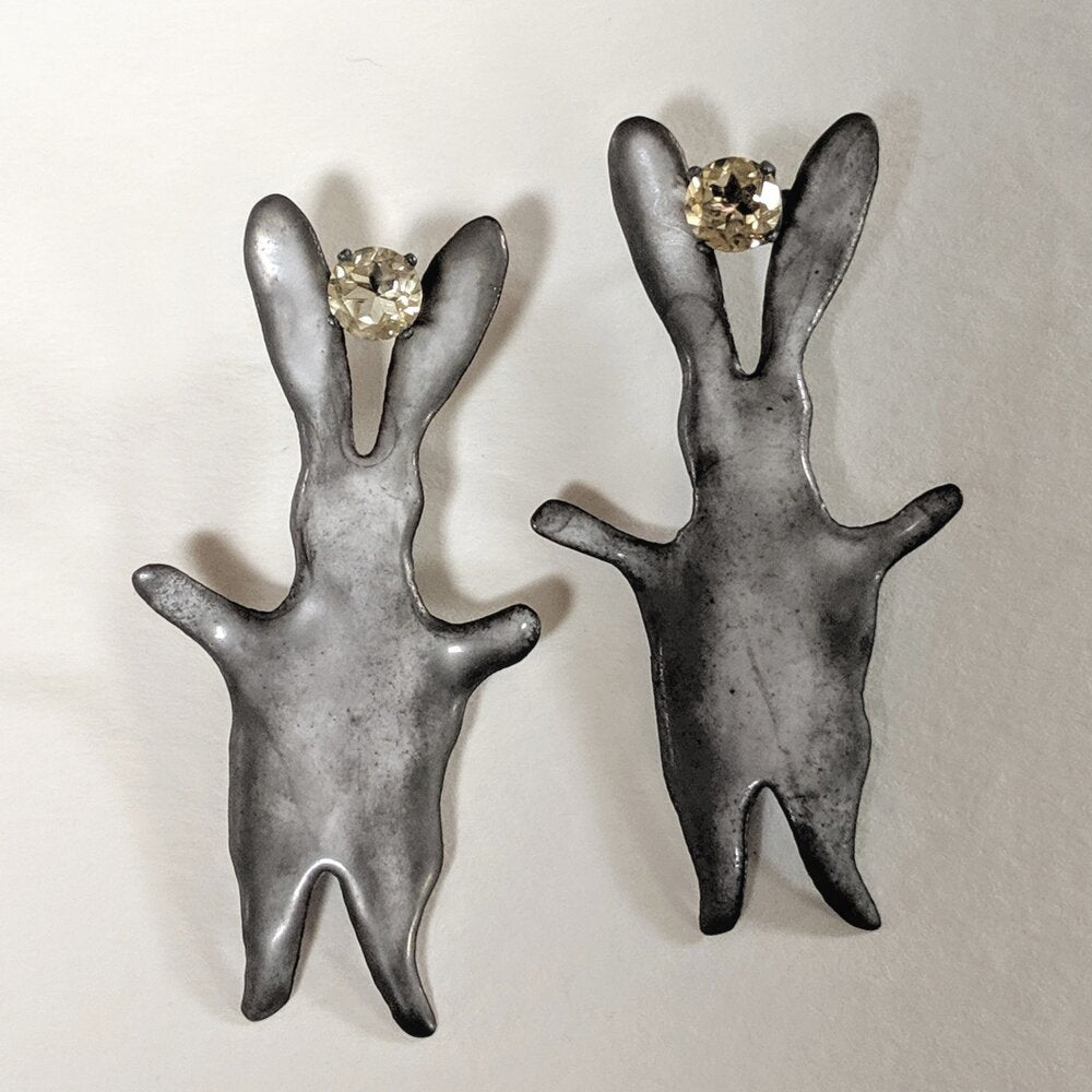 Large Ghost Bunny post earrings
