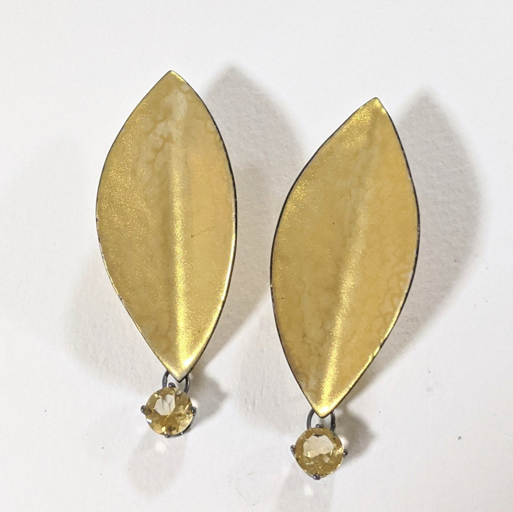 Gold on gold earrings