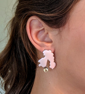 Pink Pastiche earrings