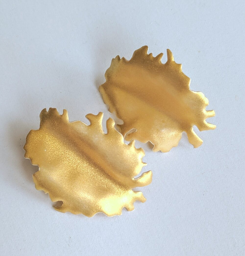 Gold Peony earrings
