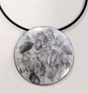 Large fingerprint disc pendant