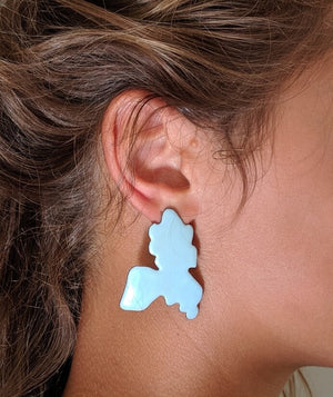 Large Glow Blob earrings