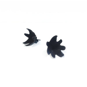 Medium Black Spikey Studs