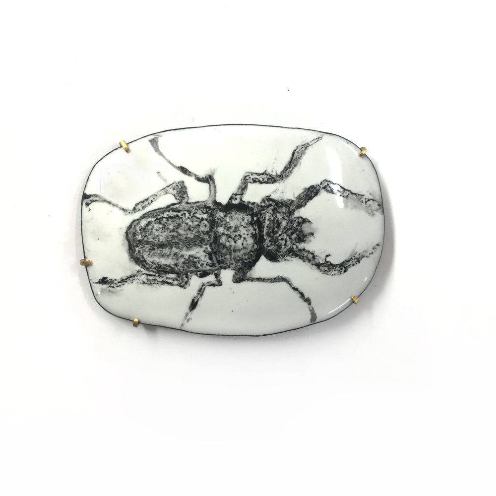 Beetle Necklace / Pin