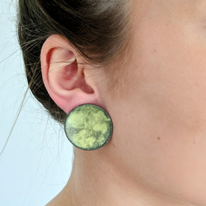 Load image into Gallery viewer, Yellow Cloud Earrings
