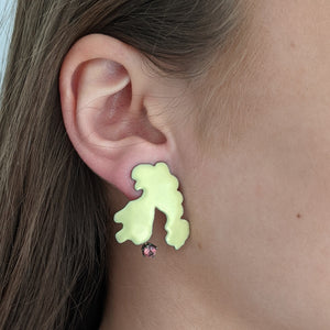 Load image into Gallery viewer, Yellow Pastiche earrings