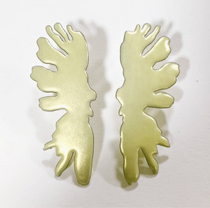 Load image into Gallery viewer, Buttery yellow Inkblot earrings