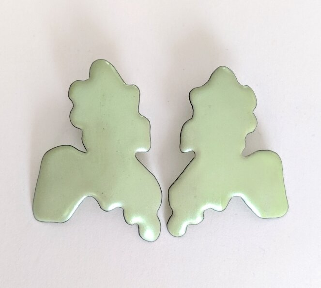 Green Glow Blob earrings