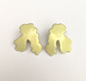 Small yellow Pastiche earrings