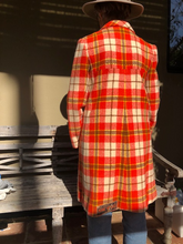 Load image into Gallery viewer, Wool orange checkered Vogue coat