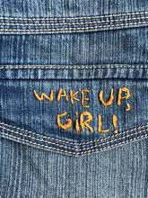Load image into Gallery viewer, Wake up girl jean skirt
