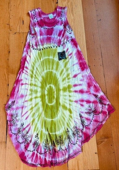 Tie dye Doberman dress