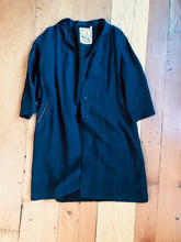 Load image into Gallery viewer, Subversive coat women's black linen