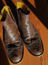Load image into Gallery viewer, leather wingtip men's shoes