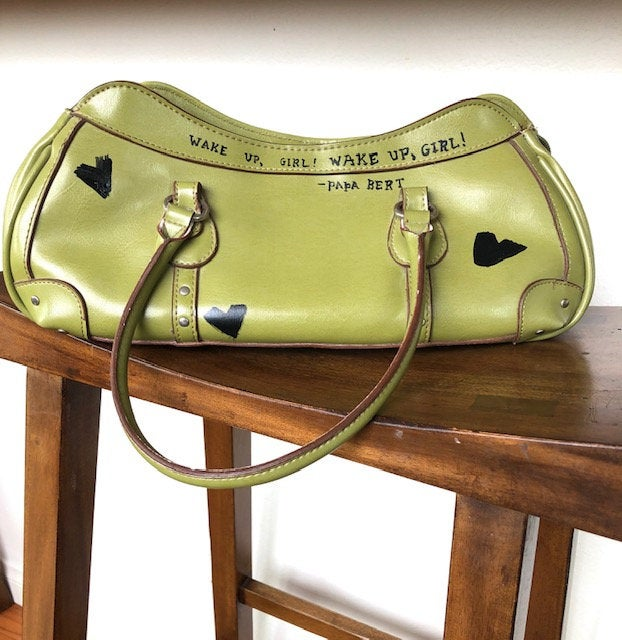 Rina Rich green leather handbag