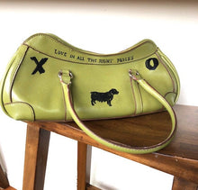 Load image into Gallery viewer, Rina Rich green leather handbag