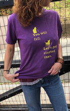 Load image into Gallery viewer, purple t-shirt/yellow cat/dog