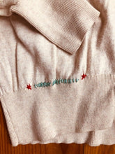 Load image into Gallery viewer, LD Stitched Beige button up sweater