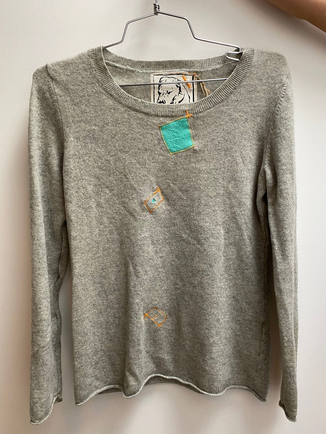 light grey cashmere sweater