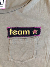 Load image into Gallery viewer, olive green team star tee