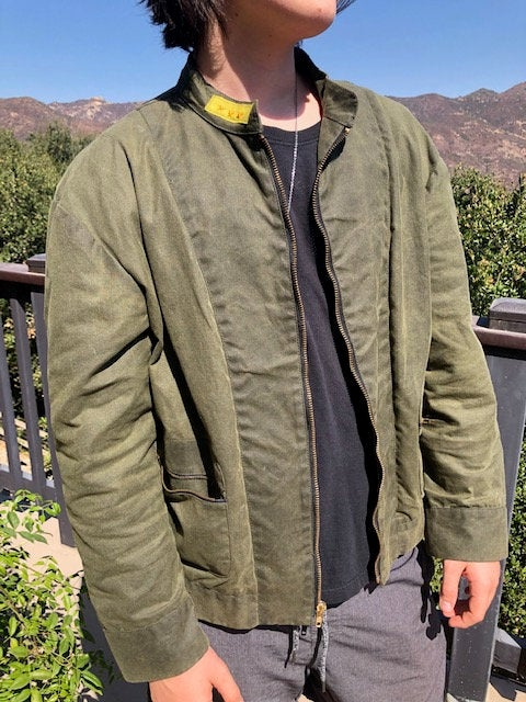 army green guitar jacket