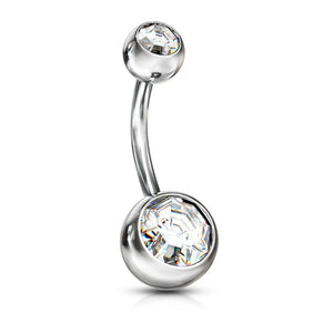 Gem Belly Bar 14G-Totally Pierced