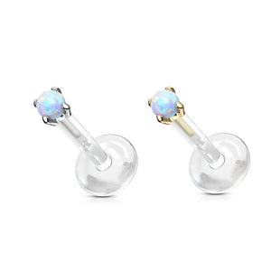 14kt Gold Opal Bioflex Labret 16G-My Body Piercing Jewellery ?id=15294574264394