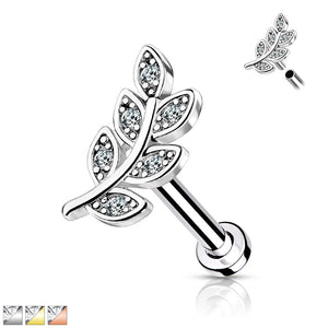 Leaf Internally Threaded Labret 16G-My Body Piercing Jewellery ?id=15346021269578
