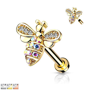 Bee Internally Threaded Labret 16G-My Body Piercing Jewellery ?id=15346044239946
